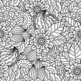 Seamless black and white background. Royalty Free Stock Photos