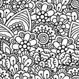 Seamless black and white background. Stock Photo