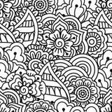 Seamless black and white background. Stock Photos