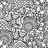Seamless black and white background. Royalty Free Stock Image