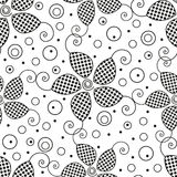 Seamless black and white background Royalty Free Stock Photo