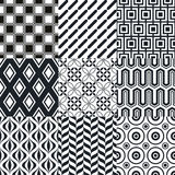 Seamless black and white background pattern Stock Photography