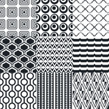 Seamless black and white background pattern Stock Photo