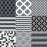 Seamless black and white background pattern Stock Image