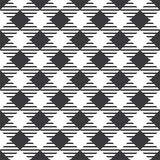 Seamless black and white basic plaid checked fashion pattern vector Stock Image