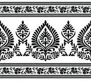 Seamless black and white border. Design for lace and textile fabrics Stock Images