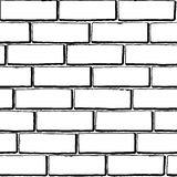 Seamless Black White Brick Texture Stock Photo