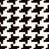 Seamless black white checkered pattern Royalty Free Stock Photos