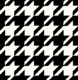 Seamless black and white checkered textile Stock Photos