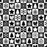Seamless black and white christmas Royalty Free Stock Images