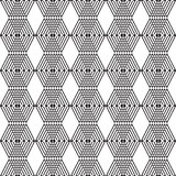 Seamless black and white cubes. Mosaic endless pattern Royalty Free Stock Images