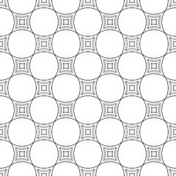 Seamless black white curved line pattern. Seamless black white abstract curved line pattern design background Royalty Free Stock Photo
