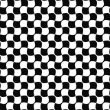 Seamless black and white curved shape pattern Stock Photos