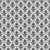 Seamless Black & White Damask Stock Photo