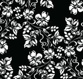 Seamless black and white damask floral wallpaper Royalty Free Stock Images