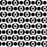 Seamless black and white decorative  background with abstract figures Stock Image