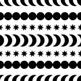 Seamless black and white decorative  background with abstract figures Royalty Free Stock Images