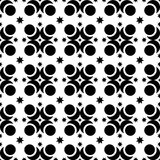 Seamless black and white decorative  background with abstract figures Stock Photography