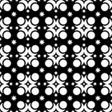 Seamless black and white decorative  background with abstract figures Stock Images