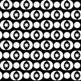 Seamless black and white decorative  background with abstract figures Royalty Free Stock Image