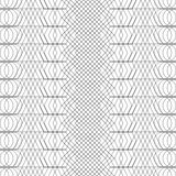 Seamless black and white decorative  background with abstract geometric pattern Stock Images