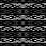 Seamless black and white decorative  background with abstract geometric pattern Royalty Free Stock Photo