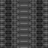 Seamless black and white decorative  background with abstract geometric pattern Royalty Free Stock Photos