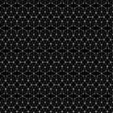 Seamless black and white decorative  background with abstract geometric pattern Royalty Free Stock Images