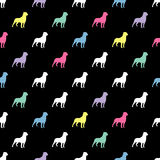 Seamless black and white decorative  background with decorative dogs Royalty Free Stock Photography