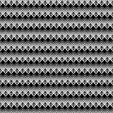 Seamless black and white decorative  background with lines Royalty Free Stock Photos