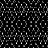 Seamless black and white decorative  background with lines and polka dots Stock Photos