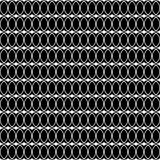 Seamless black and white decorative  background with lines and polka dots Royalty Free Stock Photos