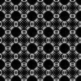 Seamless black-and-white decorative pattern. Stock Photo