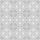 Seamless black and white decorative pattern for coloring book Royalty Free Stock Photography