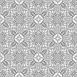Seamless black and white decorative pattern for coloring book page vector illustration