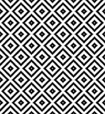 Seamless black and white diamond grid check pixel repeat pattern Stock Images