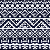 Seamless black and white ethnic pattern Royalty Free Stock Photos