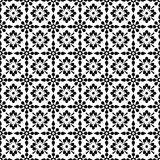 Seamless Black & White Floral Background Wallpaper Stock Photography