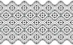 Seamless black and white floral border royalty free stock photography