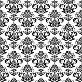 Seamless black and white floral wallpaper pattern stock illustration
