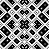 Seamless black and white geometric background Royalty Free Stock Images