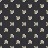 Seamless Black and White Geometric Pattern from Hexagons. Seamless black and white geometric abstract pattern from hexagons Royalty Free Stock Photo