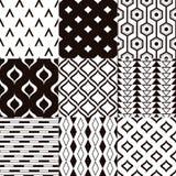 Seamless black and white geometric pattern Stock Image