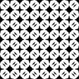 SEAMLESS BLACK AND WHITE GEOMETRIC PATTERN Royalty Free Stock Image