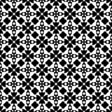 SEAMLESS BLACK AND WHITE GEOMETRIC PATTERN Royalty Free Stock Images