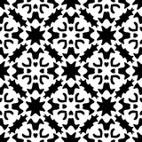 SEAMLESS BLACK AND WHITE GEOMETRIC PATTERN Stock Images