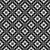 SEAMLESS BLACK AND WHITE GEOMETRIC PATTERN Royalty Free Stock Photography