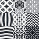 Seamless black and white geometric pattern Royalty Free Stock Photo