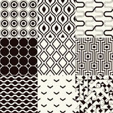 Seamless black and white geometric pattern stock illustration