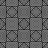 Seamless black and white geometric pattern, simple vector backgr Royalty Free Stock Photo